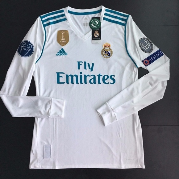 first rate 0370a c8ecd Ronaldo Long Sleeve Jersey Champions Jersey White NWT